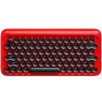 洛斐 蓝牙机械键盘 DOT圆点苹果Mac电脑办公笔记本iPad手机无线青轴键盘 红色