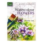 现货包邮 英文原版 Ready to Paint Watercolour Flowers 花卉粉刷水彩画 水彩画技法绘