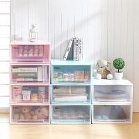 御目 收纳盒 宝宝衣柜儿童抽屉式收纳柜多层收纳箱塑料婴儿储物柜衣物整理柜子 创意家具