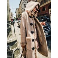 七格格仿皮毛一体冬装女2018新款韩版仿皮草过膝大衣长款毛绒外套