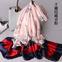 杭州丝巾女秋冬季保暖围巾冬天长款大披肩春秋季纱巾