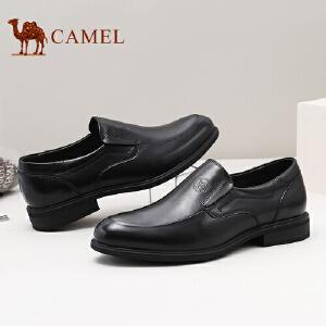 骆驼牌 男鞋 2017秋季新品舒适耐磨商务正装男鞋套脚低帮皮鞋