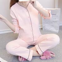 2019春季新款孕妇睡衣套装家居服产妇哺乳衣春秋喂奶衣棉月子服
