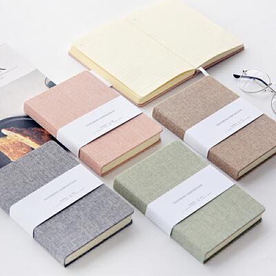 【包邮】三年二班简约纯色布面手帐本 空白方格手账本笔记本文具记事本子Z