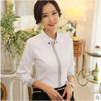 女士长袖衬衫女士商务修身OL工装工作服职业衬衣女