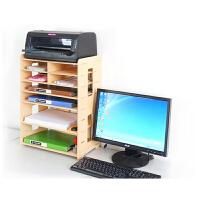 099木质资料收纳文件架多功能打印机托架A4A5快递单办公用品包邮