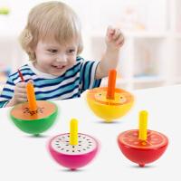 儿童陀螺动物水果简单手动旋转幼儿园男孩女孩木质玩具