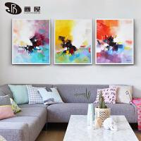 客厅装饰画沙发背景墙三联画现代简约卧室壁画手绘墙画抽象挂画 图片款3副 三幅整套100cm*100cm 组合
