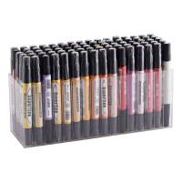 宝克马克笔 手绘油性马克笔 广告笔设计笔双头 80色套装学生正品