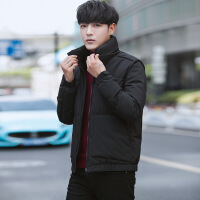 №【2019新款】穿着不跑毛的2018冬季新款男士羽绒服韩版修身青年时尚外套短款保暖立领男装帅