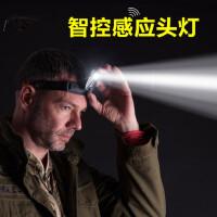 感应头灯 LED夜钓强光亮 充电式锂电池夹帽灯上饵灯钓鱼灯