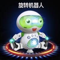 新款创意电动跳舞机器人灯光旋转发光音乐模型玩具