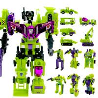 锦江 大力金刚神工程车六合体 儿童拼装变形机器人模型男孩玩具 大力金刚8800