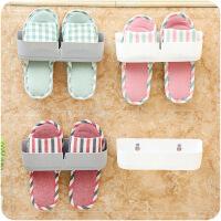 懿聚堂 家用壁挂式粘贴鞋架简易立体鞋子收纳架客厅浴室墙上拖鞋架