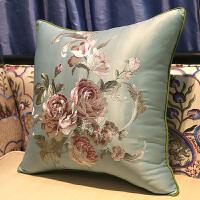 红木沙发抱枕靠垫新中式刺绣大靠背床头靠包中国风靠枕含芯定制套