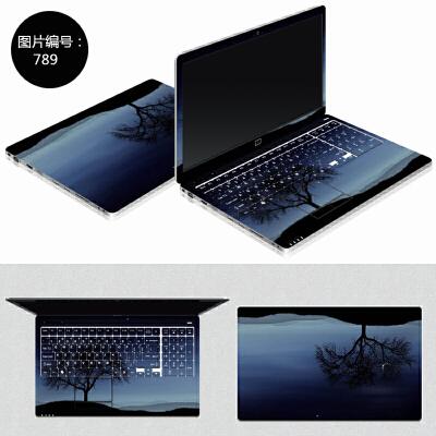 惠普笔记本贴纸Pavilion x360 13-u018TU电脑外壳贴膜卡通免裁剪 SC-789 ABC三面