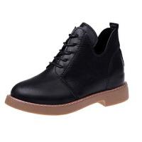 春秋马丁靴女短靴新款学生英伦风内增高单靴百搭休闲女鞋加绒靴子