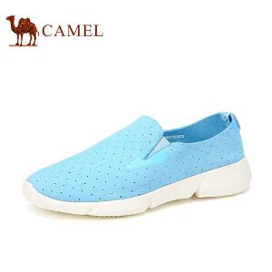 骆驼牌 情侣鞋 时尚情侣款单鞋轻质套脚女鞋透气低帮男鞋