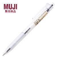 无印良品文具 按动透明 油笔 滑顺按压原子笔|圆珠笔 透明款圆珠笔