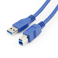USB 3.0打印�C����A��B usb�鬏��公��公高速打印�1.5米 �{色 F19