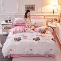 纯棉印花四件套 床上用品全棉被套床单1.5/1.8 for you 1.5和1.8床通用
