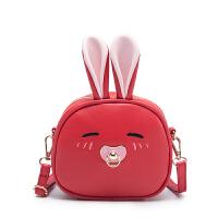 20180826141411408韩版儿童包包女童斜挎包时尚公主包可爱小兔子单肩双背两用出游包