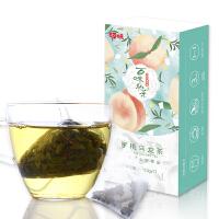 【百草味 蜜桃乌龙茶21g】花草茶水果茶袋泡花茶盒组合盒装