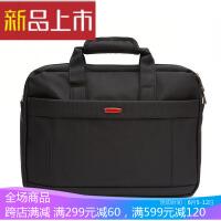 新款横款手提笔记本电脑包16寸多功能单肩包斜挎包防水尼龙布包 16寸