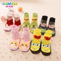 kamida咔米嗒秋冬季儿童袜子宝宝袜 卡通地板袜保暖棉袜男女童