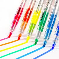 【6支荧光笔包邮】文曦7191大容量荧光笔 学生重点标注笔 彩色荧光笔