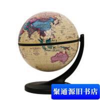 【旧书二手书9成新】博目地球仪:11cm中英文政区仿古地球仪(单支点万向支架)