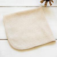 货到付款 Yinbeler婴儿口水巾 小方巾 有机彩棉 无荧光 1条装 赠品款