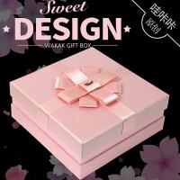 包装盒化妆品小礼品盒正方形表白礼物送女生钱包香水口红礼盒