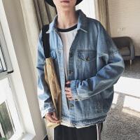 秋冬夹克韩版长袖男装男士外套潮纯色外穿上衣青春流行秋季