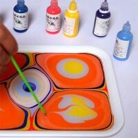 儿童无毒湿拓画颜料套装水画水拓画套装儿童浮水画水影画颜料套装
