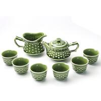 乾唐轩活瓷乾坤茶具组1壶1海6杯功夫茶具组养生茶具茶壶茶海茶杯礼盒
