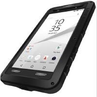索尼Z5P手机壳防摔Z5Premium金属E6883保护套三防硅胶男 Z5 5.5寸 黑色