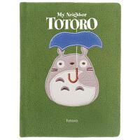 英文原版 龙猫 绒面笔记本 电影周边 宫崎骏动画 吉卜力工作室 进口礼品书 My Neighbor Totoro: T