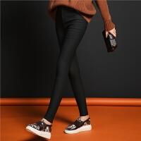 七格格黑色铅笔裤女秋冬季2018新款韩版直筒显瘦加绒休闲裤子外穿