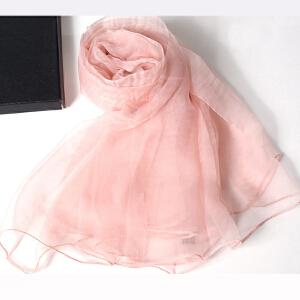 货到付款 Yinbeler夏季防晒防紫外线纯色超大度假沙滩丝巾披肩女 东风纱 欧根纱 纱巾围巾