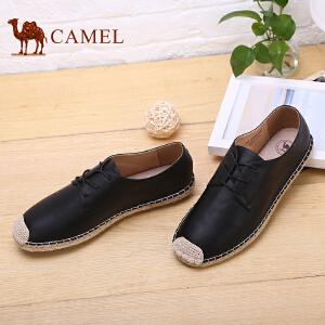 骆驼牌 男鞋新款手工缝线鞋小白鞋男时尚编织休闲鞋