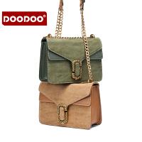 【支持礼品卡】DOODOO 链条包包女2017新款潮韩版女士百搭女包斜挎小包单肩小方包 D6215
