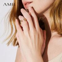 Amii[极简主义]2017新款时尚简约百搭金属饰品开口戒指女11723272
