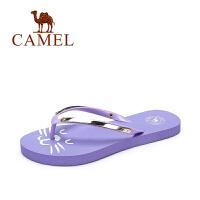camel/骆驼女鞋 新款卡通可爱沙滩拖鞋简约室内居家浴室防滑拖鞋