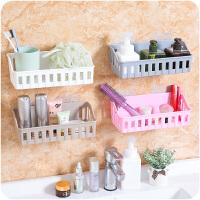 免打孔浴室置物架卫生间用品厕所塑料壁挂架子收纳架洗漱架