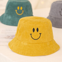 儿童渔夫帽灯芯绒帽遮阳帽子春秋冬男童女童小孩宝宝