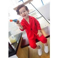 男童小西装套装花童礼服儿童西服韩版英伦帅气小孩衣服休闲两件套