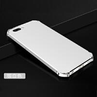 BaaN OPPOR11手机壳OPPOR11保护套防摔全包边防指纹电镀三段硬壳 银白色