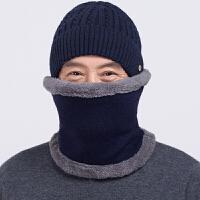 中老年男士帽子冬季天护耳围脖围巾老人帽子男