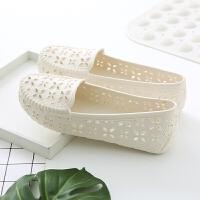 夏季女款洞洞镂空女鞋塑料白色凉鞋平底护士鞋孕妇妈妈鞋舒适